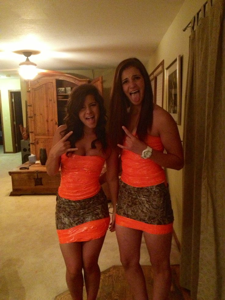 Orange and camo duct tape - yeah thats my kinda ABC party, this costume would match my phone case! ...@Melissa Podolak we couldn't have more different costume ideas