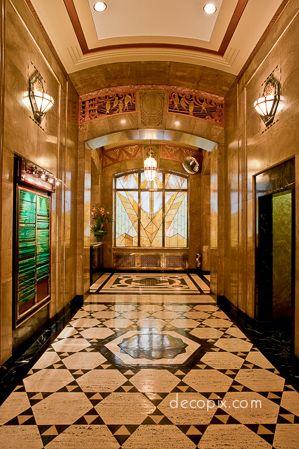 Lobby Aldred Bldg Montreal Canada Art Deco Architecture