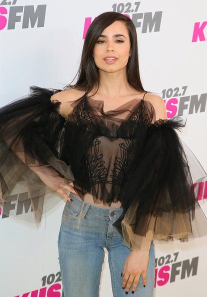 @SofiaCarson  attends @1027KIISFM 's #WangoTango at StubHub Center  in Carson, California.