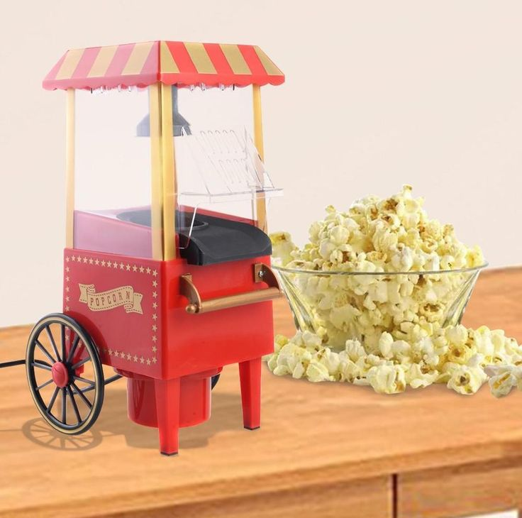 Popcorn Maker Pop corn Machines Tabletop Cart Min Red Stand Movie Theater Popper #PopcornMachinesCollection
