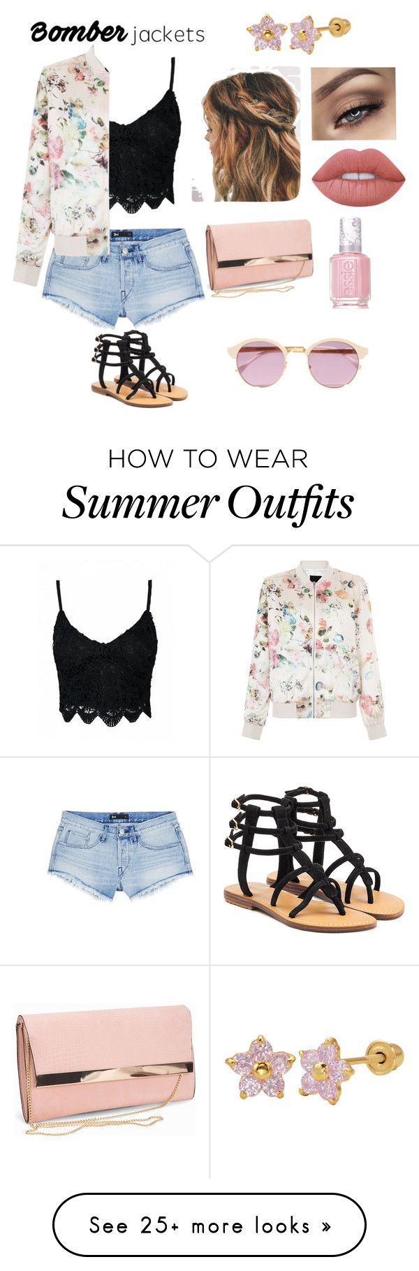 """""""Bomber jacket outfit"""" by depressednstressed on Polyvore featuring 3x1, Sheriff&Cherry, Lime Crime, Mystique, Essie, New Look and bomberjackets"""