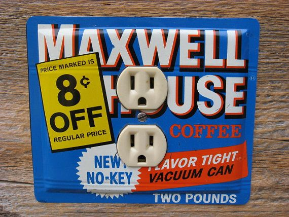 Antique Maxwell House Coffee Tin Cans Lighting by tincansally