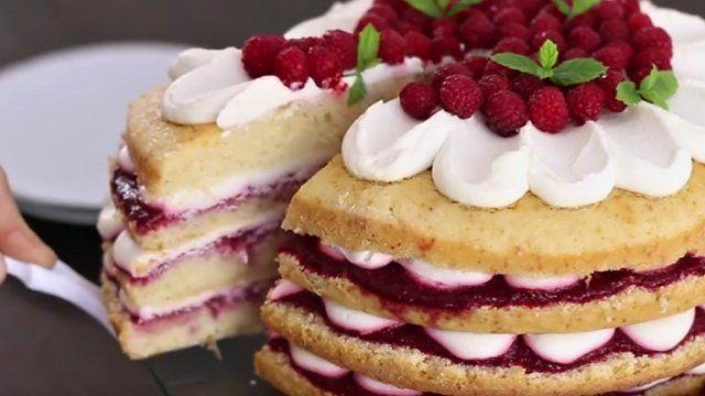 vanilkovo malinová torta