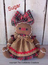 """Azúcar ~ 6 1/2 """"sentado muñeco de pan de jengibre (tamaño está posición sentado)"""