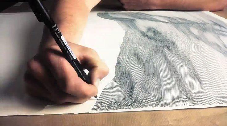 Each Line One Breath: Morphogenetic Freehand Drawings By John Franzen process drawing