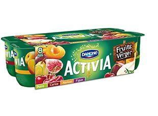 ACTIVIA PANACHE FRUITS DU VERGER, j'adore ! À découvrir sur DanOn