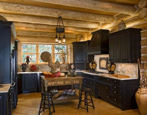Love The Color. Log Home KitchensRustic KitchensLogsCountry KitchensCraftsman  ...