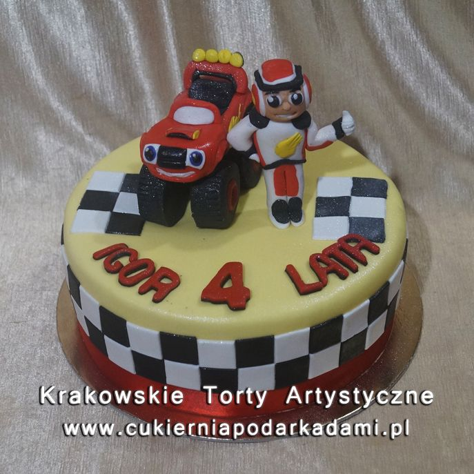 109. Tort z autkiem i Blaze.Blaze and the cars cake.