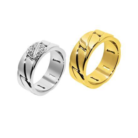 Золотые обручальные кольца с бриллиантами (Арт. 170)