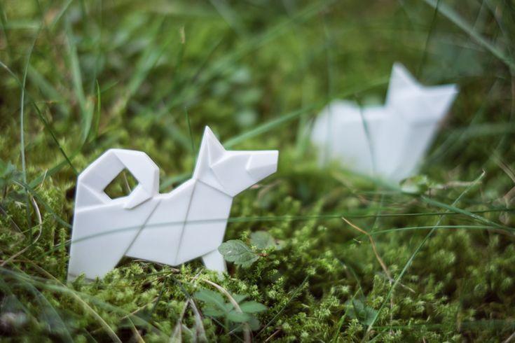Porcelain origami brooches - Stehlik design - Etsy shop