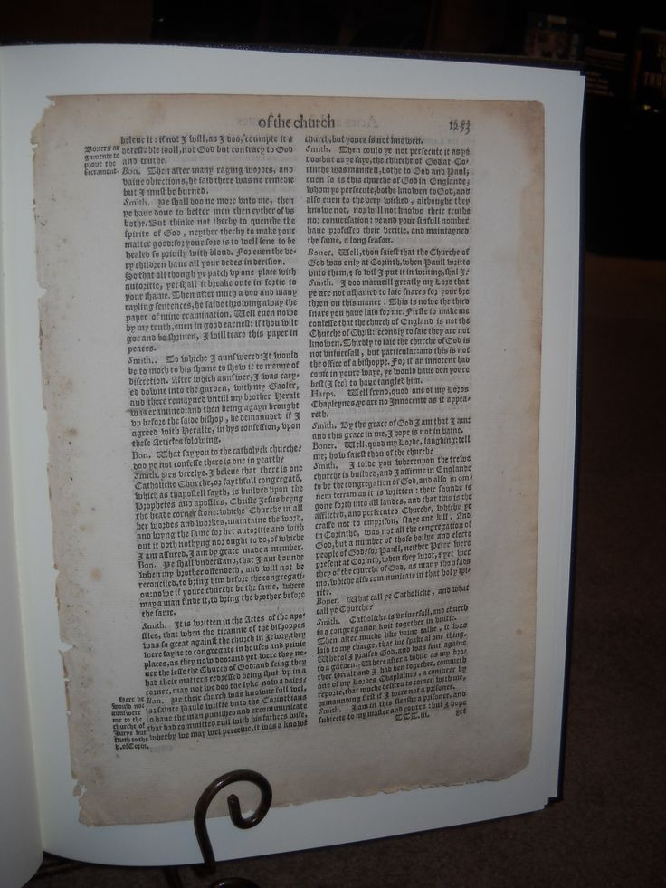 An Authenticated Leaf from the First Edition of John Foxe's Actes and Monuments 1563