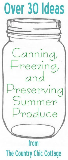 Your ultimate guide to canning, freezing and preserving your summer produce…