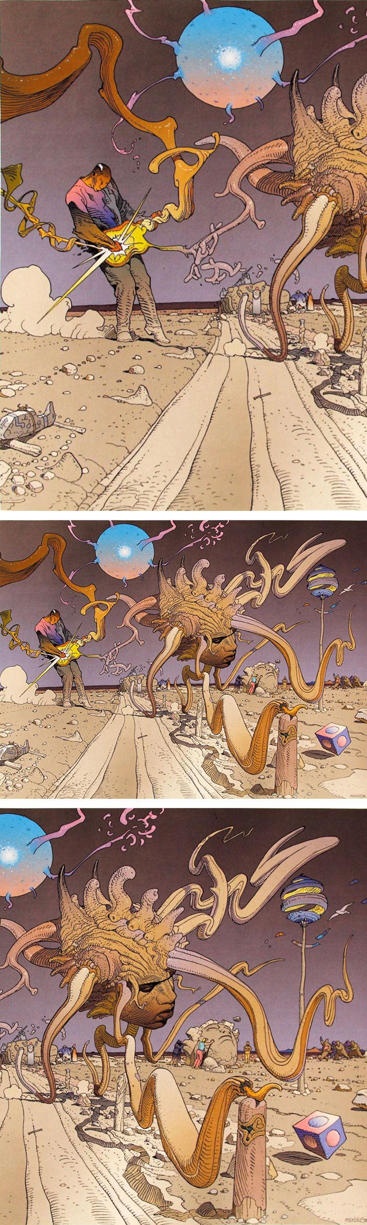 Daily dose of LSD; Jimi Hendrix art by Moebius
