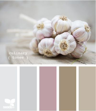 culinary tones color-palettes. So soothing for a bedroom / bathroom ensuite. I see the palest colors on the ceiling and the mid-tone colors for walls & bedding