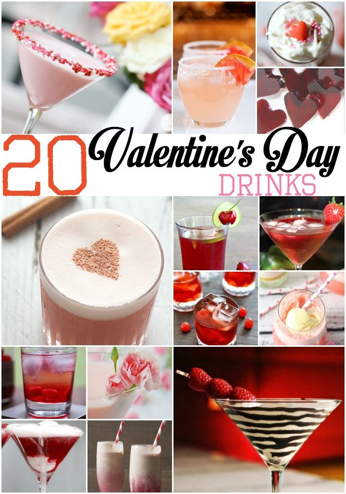 I don't want to go all out on the food then pop open a can or boring glass of water. Maybe this year, I'll make one of these Adult Valentines Day Drinks.