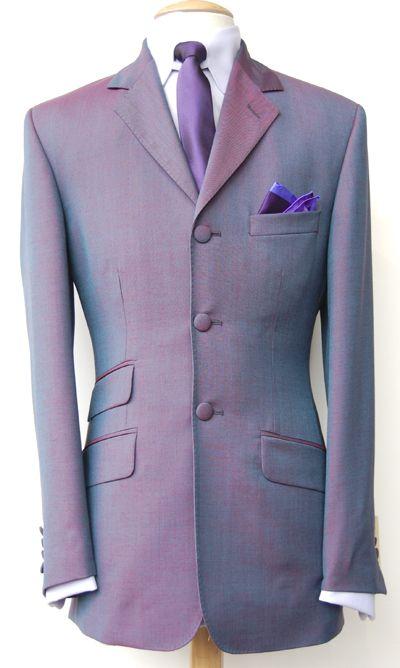 Tonic Suit - Purple Mohair - Wool Blend