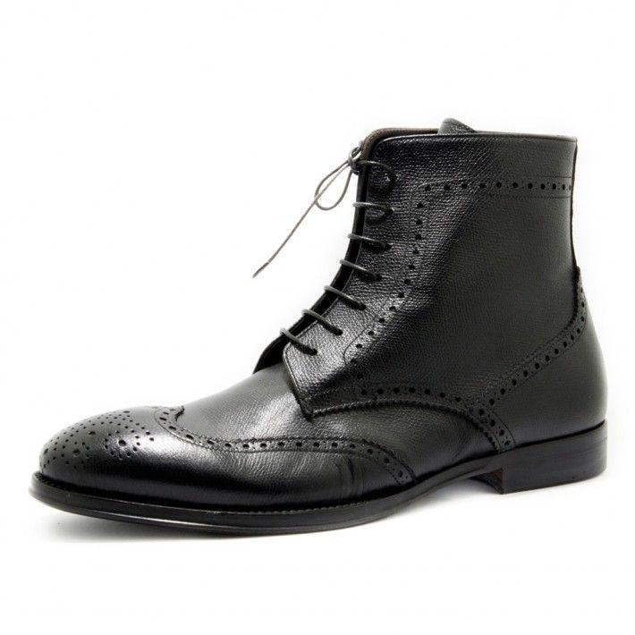 Art. C395, Boots in chicco riso di colore Nero, fodera in Vitello e fondo in Cuoio/Gomma #Mauron1959 #Italy #shoe #man #style #fashion #luxury