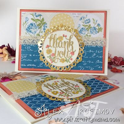 Thank You Card using Stampin Up Afternoon Picnic and Time for Tea DSP and Whole Lot of Lovely Stamp Set