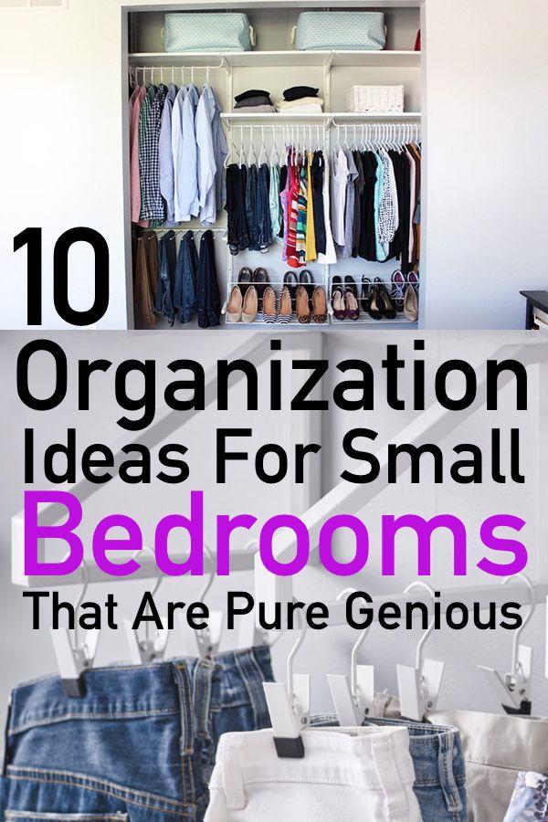 10 Genius Small Bedroom Organization Ideas The Unlikely Hostess Small Bedroom Organization Small Bedroom Organization Bedroom