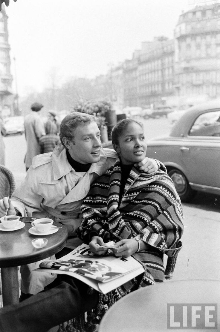 Actress Marpessa Dawn and husband Georges Vander, in Paris, 1960