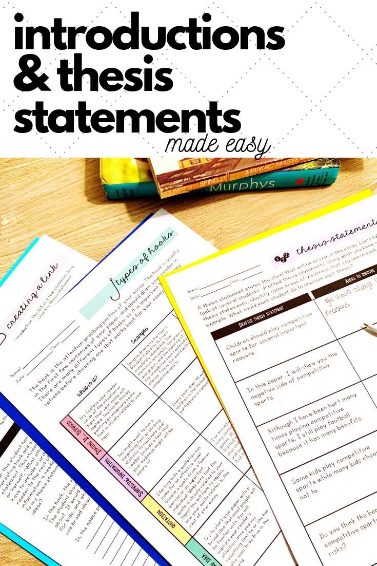 how to teach students to write a thesis statement