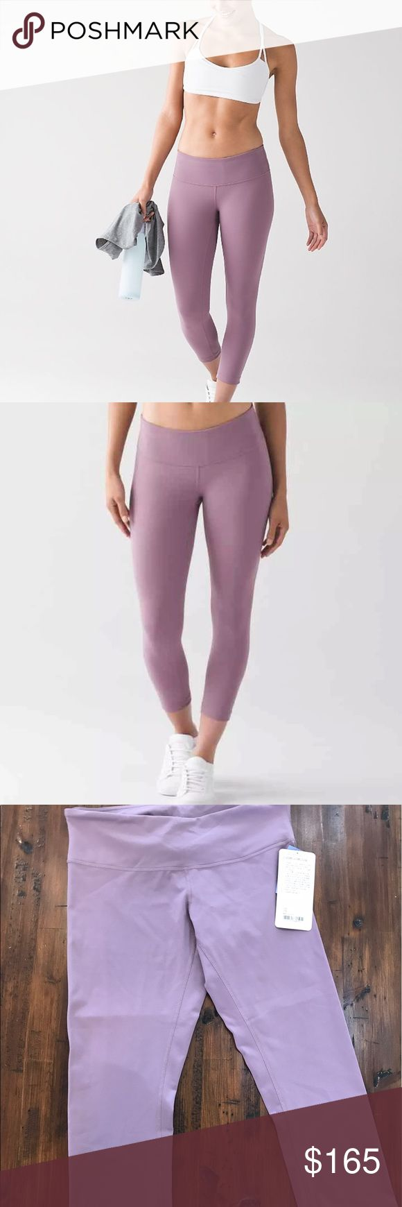 🍋Lululemon Dusty Mauve Crops Lululemon NWT Dusty Mauve Wunder Under Crops. Size 10. Rare and hard to find color. Color looks the most like the first 2 stock photos. No trades. No offers please.   PRICE IS FIRM!  Thanks! lululemon athletica Pants Capris