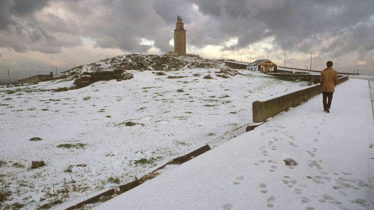 La nevada del 87 cubrió de blanco la torre Hércules