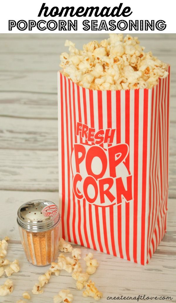 This Homemade Popcorn Seasoning will take plain old popcorn and turn it gourmet!