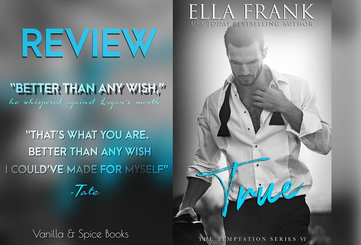REVIEW: ELLA FRANK ✮ TRUE  LOGAN & TATE <3   MM Romance at its best!