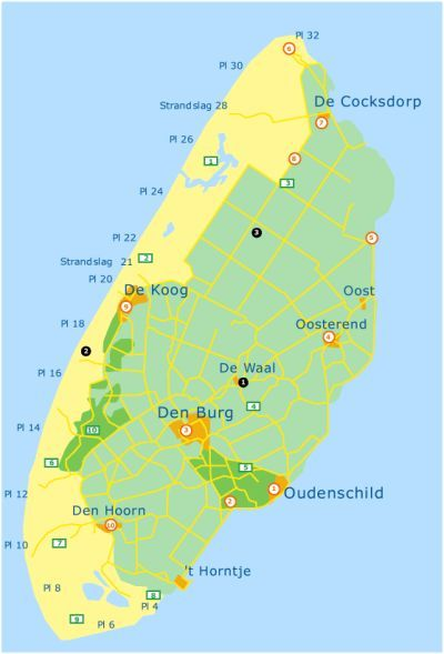 Texel Island Map