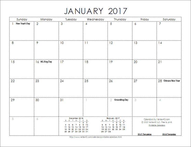 1000 ideas about printable calendar template on pinterest for Calendar template by vertex42 com
