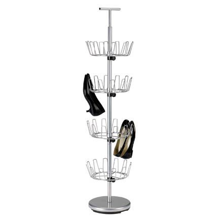 4-Tier Revolving Shoe Tree Satin