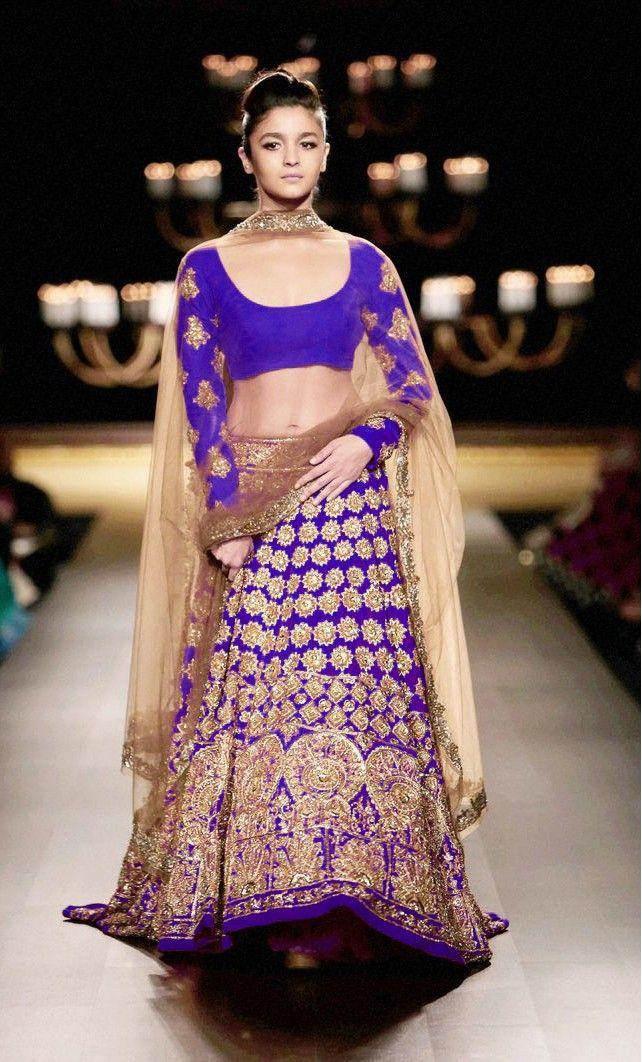 Alia Bhatt Bridal Blue Lehenga