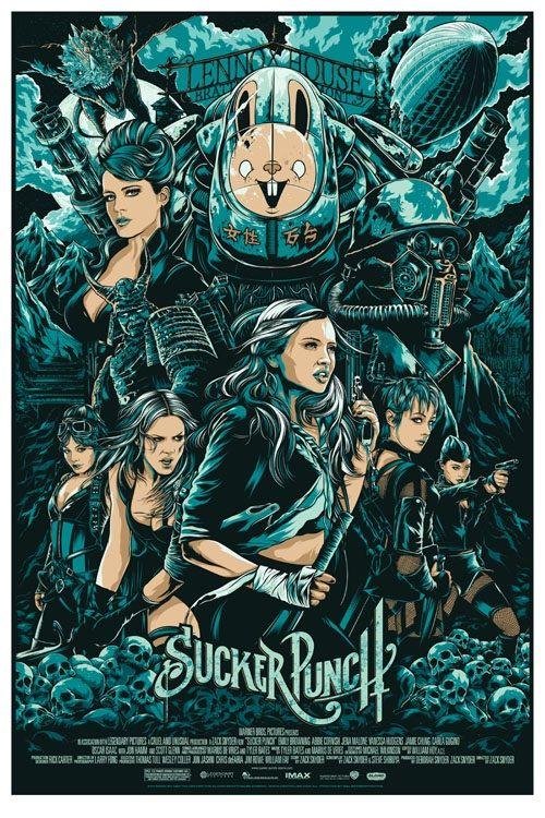 sucker punch- ken taylor: Movie Posters, Suckerpunch, Sucker Punch, Picture-Black Posters, Illustration, Movies, Art, Ken Taylors, Film Posters