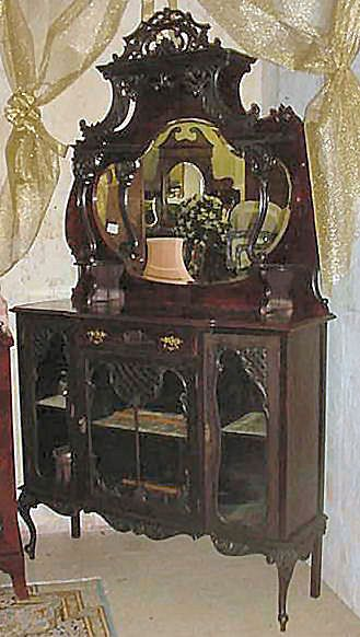 Beautifully Carved English Victorian Era Etagere c. 1880