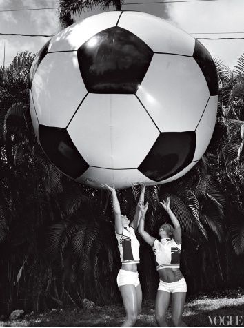 Wonder Women: Team USA's Female Olympic Athletes  by Robert Sullivan | photographed by Bruce Weber- VOGUE magazine June 2012--HOPE SOLO the soccer player on a mission! (http://www.vogue.com/magazine/article/female-olympic-athletes-wonder-women/#2)
