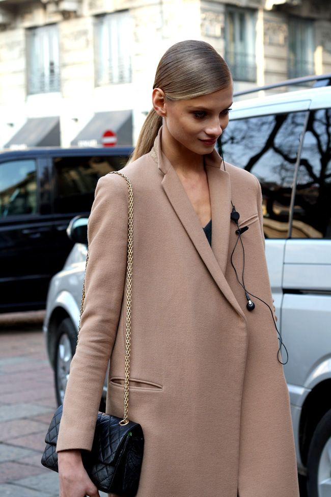 cool camel. #AnnaSelezneva #offduty in Paris.