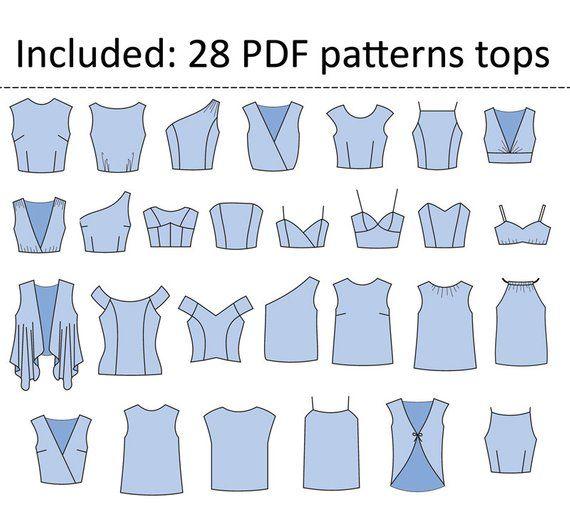 70 modèles PDF de base pour coudre des vêtements pour femmes / Numérique | Etsy   – Sewing Adult Pattern to print