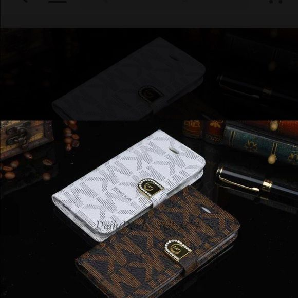 IPhone 6Plus.. Iphone 6Plus only right now, will have 6s soon. Michael Kors wallet phone case, Leather, Wallet case, Very good quality. We closed our cell phone store and have many left. Available in brown or white. Going fast!!! Michael Kors Accessories Phone Cases
