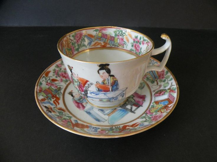 Filiżanka kolekcjonerska - Kanton Chiny XIX w.