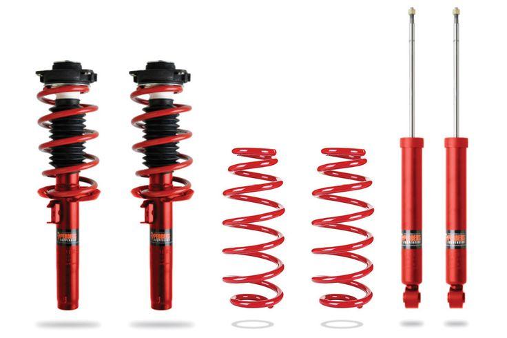 Pedders EziFit SportsRyder Spring And Shock Kit (55mm Clevis) 2006-2014 VW/Audi Golf/A3