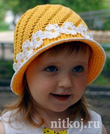 Детская панамка крючком. » Ниткой - вязаные вещи для вашего дома, вязание крючком, вязание спицами, схемы вязания