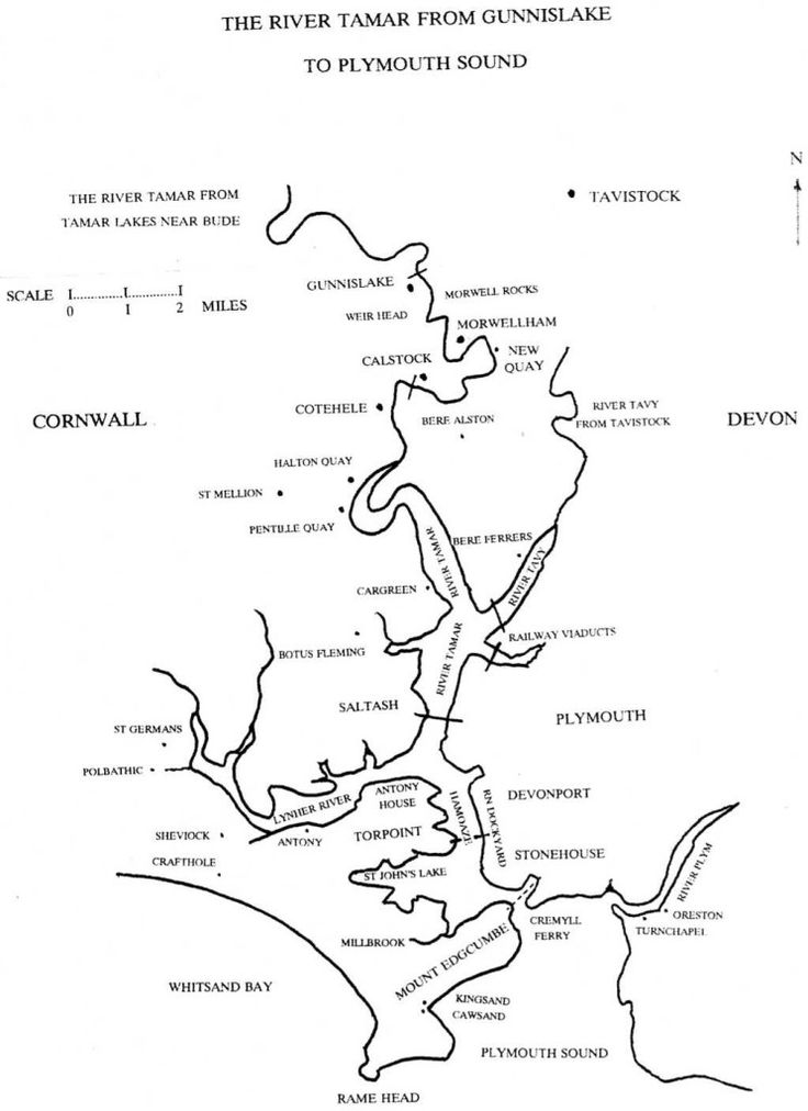 The River Tamar from Plymouth Sound to Gunnislake