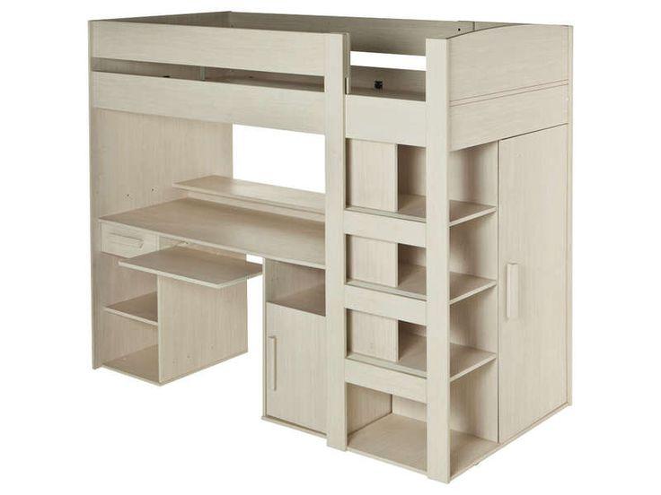 Lit mezzanine 90x200 cm montana vente de lit enfant conforama id es pou - Encadrement de lit conforama ...