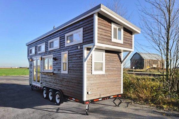 Tiny Living Homes Thow personalizada con tocador de lavamanos doble y cocina completa 001