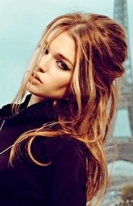 Warm golden auburn brunette with sunkissed highlights
