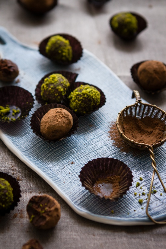 ... and Spoonfuls: Chocolate Pistachio and Orange Blossom Water Truffles