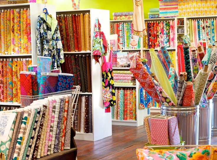 I really need to go to this fabric store in Dripping Springs!!  Look at all that awesome material