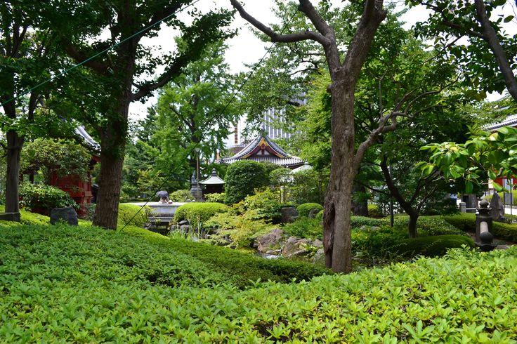 Garten vor dem Sensō-ji #Tempel in #Tokyo | #Japan http://www.funkloch.me/senso-ji-tempel-in-tokyo-japan-asientrip/ #asientrip