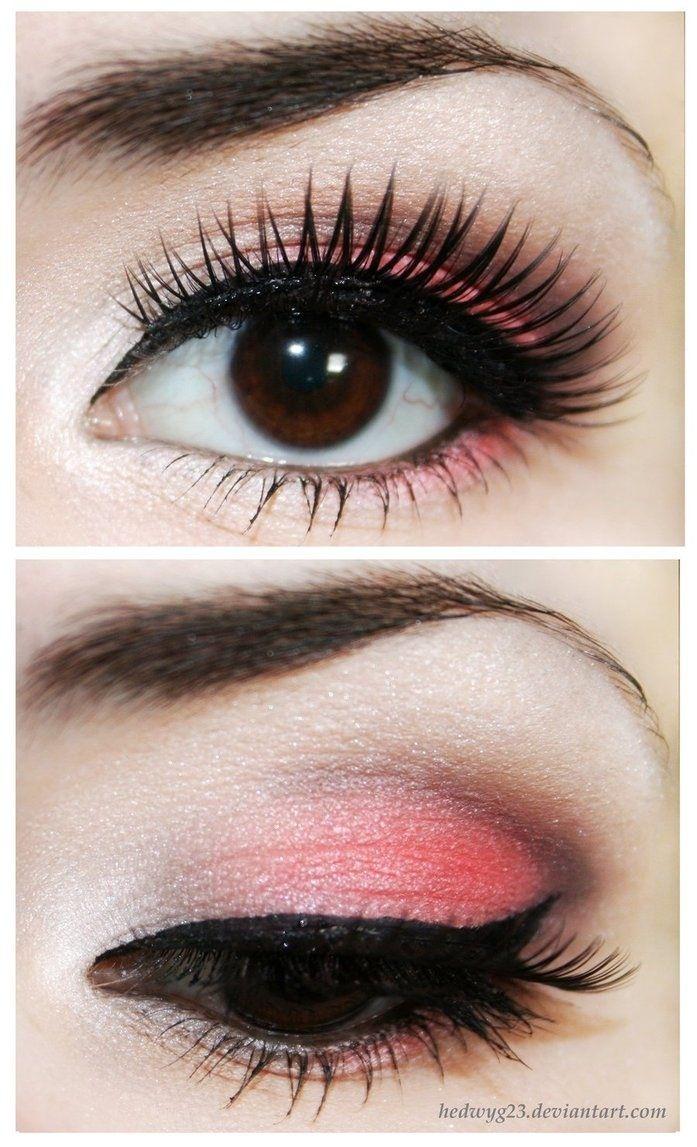 Makeup pink, eyes eyeshadow. Maquillaje de ojos, sombra rosa. Maquillaje de dia ♛